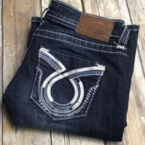 Big Star Jeans Maddie 27 x 32 Dark Silver Pockets